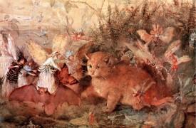 John Anster Fitzgerald - Cat Among the Fairies