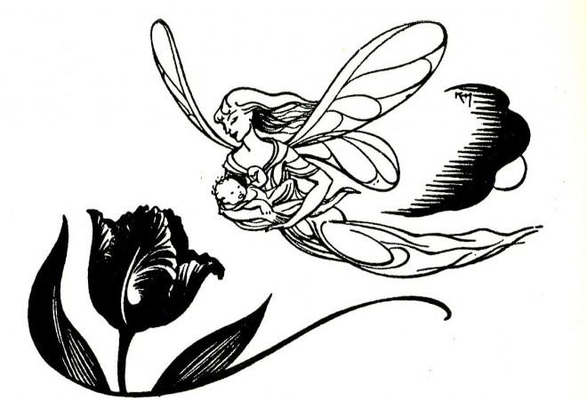 Mother Child Fairy Art