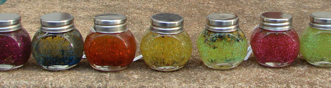 Jars of spells in the Magickal Fantasy Boutique © Marjorie Dulaney