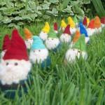 Needle felted pocket gnomes