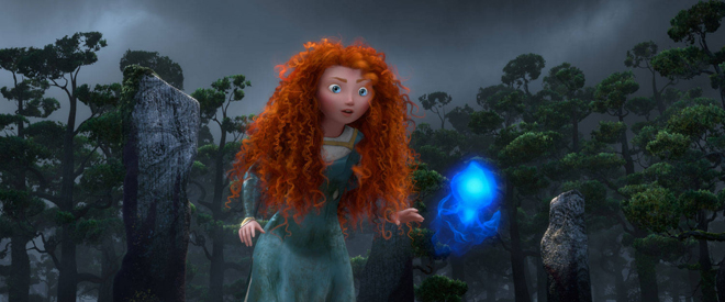 Brave's Merida and a wisp@Time Magazine