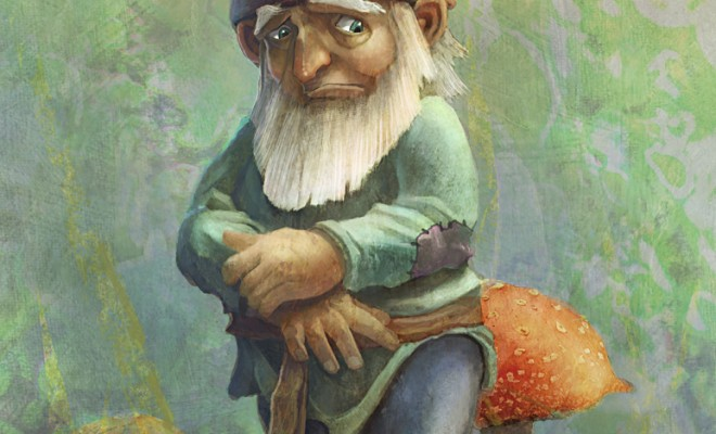 Sad Gnome Commission by Tyler Edlin