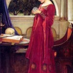 """The Crystal Ball"" by John William Waterhouse (1902)@"