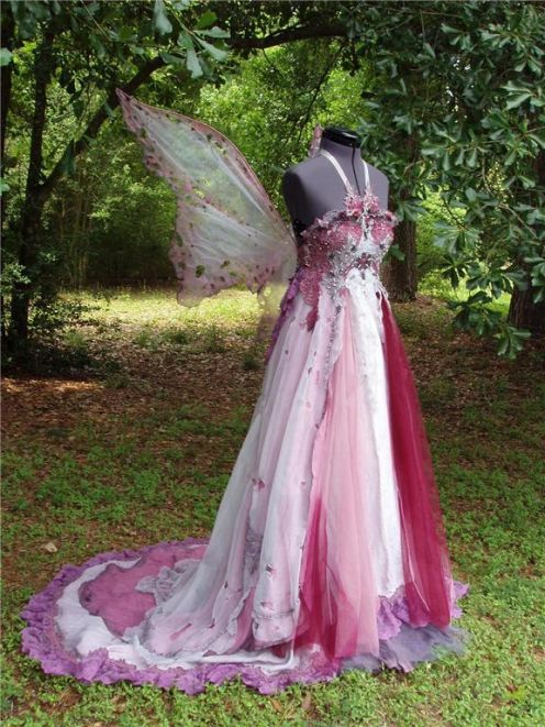 Fairy wedding dress via pixie wing fairyroom for Fairytale ball gown wedding dresses