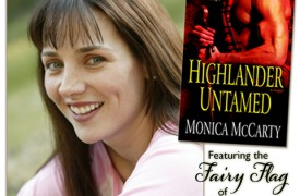 Highlander Untamed by Monica McCarty (Ballantine, 2007); Photo of Monica by Alex Abercrombie