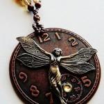 Brass fairy necklace by  Steampunkerz