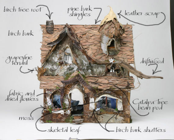This Lovely Diagram Shows An Artfully Crafted Fairy House By Tatiana Katara A